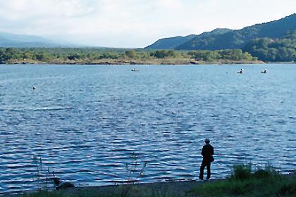 精進湖はヘラブナ釣りが有名
