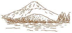 精進湖イラスト