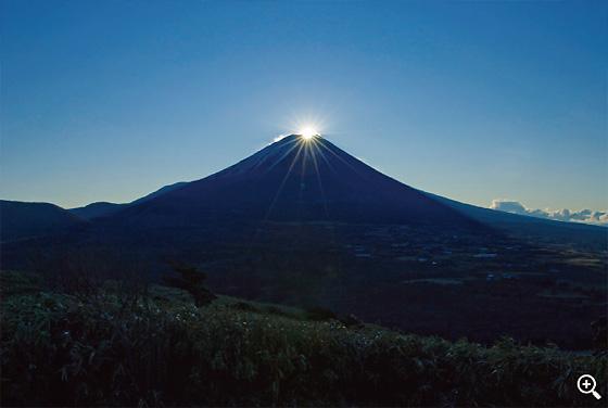竜ヶ岳から「ダイヤモンド富士」