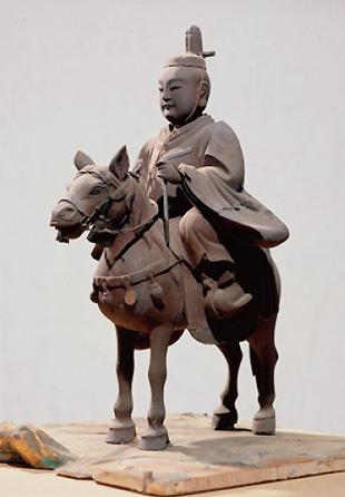 江戸時代初期の作といわれる乗馬姿の聖徳太子像