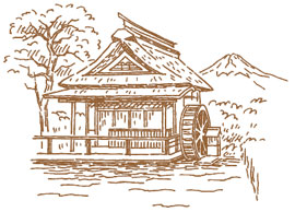 忍野八海イラスト