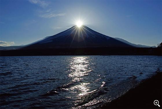 ダイヤモンド富士 大池付近