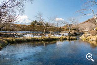 川の一部となっている「濁池」(第六の霊場)