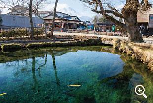 八海で最大の湧水量を誇る「湧池」(第五の霊場)